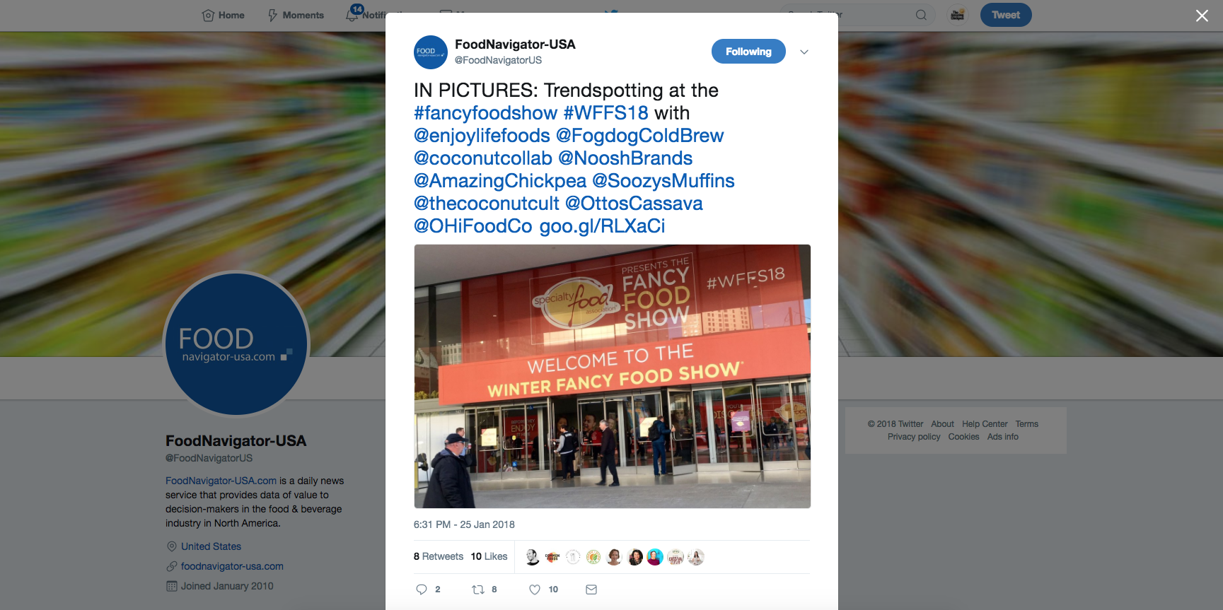 Trending at the Fancy Food Show – via FoodNavigator