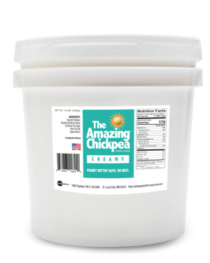 The Amazing Chickpea Creamy Spread 15 LB Pail [212 Serving]