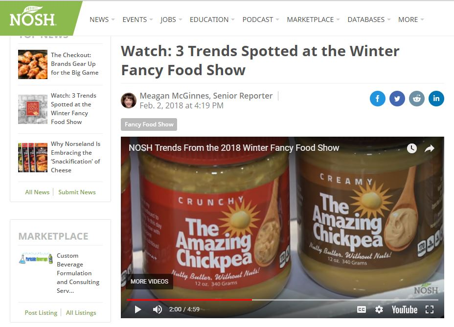 Trending at Winter Fancy Food Show – via Project Nosh